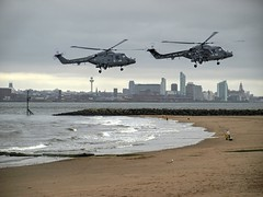 Sea Lynx Helicopters (foggyray90) Tags: military royalnavy sealynx helicopter searod fisherman coarsefishing outdoor greyday estuary sand beach foreshore newbrighton liverpool