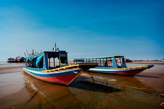 Water Taxis (G. Morgenweck) Tags: life sky lake rural river landscape boat asia cambodia lifestyle vehicle environment locations tonlesap 2016