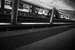 DC Subway (Jordan Salkin) Tags: travel people white black contrast america train subway photography photo moving dc cool interesting scenery photographer angle unique perspective scenic like scene columbia photographic follow depthoffield photograph depth likes distric photooftheday followme