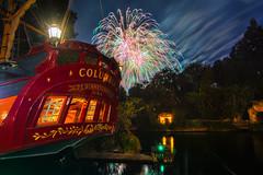 Fireworks Ahoy (Matt Valeriote) Tags: night fireworks disneyland columbia disney hdr neworleanssquare californiaadventure riversofamerica