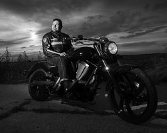 Iron Horse (axis68) Tags: victorymotorcycle bike leather road sky mood