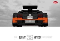 Bugatti Veyron Super Sport (1:18) (lego911) Tags: world auto records car sport vw volkswagen model break lego lets render ss go some super turbo record 88 bugatti coupe supercar challenge holder cad w16 lugnuts 2010 veyron 118 povray faster moc ldd hypercar lego911 letsgobreaksomerecords