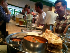 Having a curry for lunch.