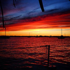 A beautiful sunset after an afternoon... (Windpowered_se) Tags: sunset newyork awesome cityisland windpowered thisislife sailaroundtheworld solnedg uploaded:by=flickstagram instagram:photo=8104445012559410521295980473