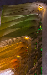 Sagrada Famlia Ranbow (NykO18) Tags: barcelona people espaa art architecture temple person rainbow spain europe cathedral basilica faith religion stainedglass catalonia manmade catalunya catalua basrelief antonigaud lowrelief templeexpiatoridelasagradafamlia expiatorychurchoftheholyfamily