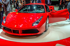 Ferrari 488 GTB (Keinsei2) Tags: auto show cars car sport switzerland fuji suisse expo geneva geneve ferrari voiture event fujifilm salon motor autos genve  supercar coches gtb automobili palexpo 2015 488 rassemblement xa1  worldcars