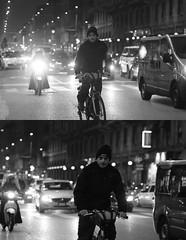 [La Mia Città][Pedala] (Urca) Tags: portrait blackandwhite bw bike bicycle italia milano bn ciclista biancoenero mirò bicicletta 2014 pedalare dittico 70913 nikondigitale ritrattostradale