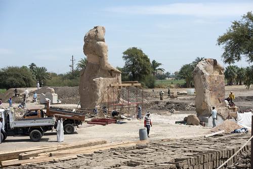 New Amenhotep III Statues at Kom El Hitan