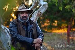 Richard Frankland, Gunditjmara man (T J Garvie) Tags: portrait musician dawn bush artist poet aboriginal songwriter storyteller firstpeoples dappledlight gunditjmara richardfrankland