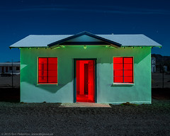 Cabin Creme de Menthe (dejavue.us) Tags: california longexposure nightphotography route66 nikon desert motel fullmoon nikkor mojavedesert roys amboy d800 1835mmf3545d vle touristcabin