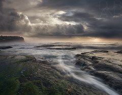 0415 Vintage Storm (Dusan R) Tags: sky seascape beach sunrise rocks sydney australia textures swell northernbeaches oceanbath bungan leefilters canon1635 southcurlcurl canonmkiii dusanr