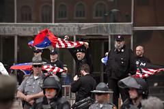 IMG_7002 (Wespennest) Tags: ohio demo spring cops nazi nazis protest police demonstration toledo armor april riotpolice riotcops neonazis nsm bodyarmor jeffschoep nationalsocialistmovement kenkrause