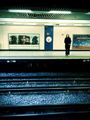 Far From The Madding Crowd (Deydodoe) Tags: street people london station train underground candid crowd tube platform streetphotography rail railway railwaystation trainstation commute commuter commuting blackfriars londonunderground thetube iphone blackfriarsstation