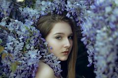 Flower shower (Litvac Leonid) Tags: flowers light portrait italy beautiful beauty photography 50mm model nikon italia natural young ll leonid litvac