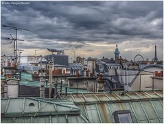 Redundant roof furniture (alcowp) Tags: paris france television clouds eiffeltower roofs roofscape chimneypots vendomecolumn