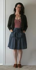 may 23 #mmmay16 Miette skirt (wandering spirit designs) Tags: handmade sewing denimskirt wrapskirt ajavaz memademay chambrayskirt tillyandthebuttons mietteskirt mmm16