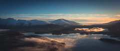 Early morning mist on the Derwent (Arksmith) Tags: uk morning light cloud mist lake snow mountains water sunrise early frost district derwent cumbria inversion peaks keswick catbells