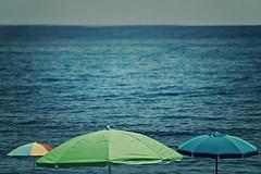 vista mare (Rino Alessandrini) Tags: blue sea sky beach umbrella mare colore blu cielo spiaggia ombrellone