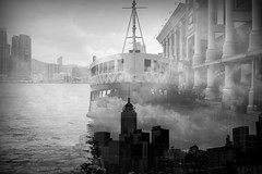 the rules of attraction (MdKiStLeR) Tags: street urban bw ferry skyline architecture hongkong asia doubleexposure thisisit 2016 therulesofattraction urbanx thisisthefuture mdkistler copyrightmichaelkistler