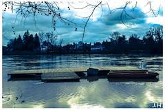 """Un ponton sur les nuages - """"a pontoon on the clouds"""" (J oSebArt's Pictures) Tags: clouds reflections dordogne nuages reflets pontoon ponton clubnautique portsaintefoy nauticsclub"""