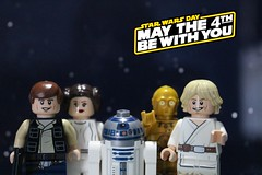 May The 4th Be With You! (Kid_with_legos101) Tags: toy photography starwars lego princess luke may 4th solo r2d2 han legostarwars leia c3po skywalker