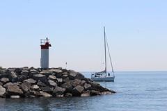 Lakefront Promenade Park Lighthouse (jmaxtours) Tags: lighthouse lake ontario water sailboat rocks sailing lakeontario mississauga mississaugaontario lakefrontpromenadepark lakefrontpromenadeparklighthouse
