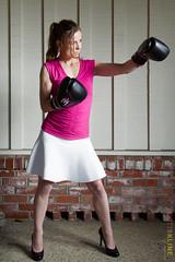 Katherine Brown Full Body Portrait (ScottRKline) Tags: pink boxer dentist inmenlo katherinebrowndds