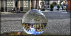 Riflessi in Piazza del Duomo (celestino2011) Tags: persone chiesa acqua riflessi hdr vetro pozzanghera sfera