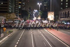 Alf Ribeiro 0192 0029 (Alf Ribeiro) Tags: street city brazil people urban sign night america democracy saopaulo outdoor flag chief south president politics crowd banner protest police social institute demonstration event staff maintain revolution pro government brazilian metropolis former satisfaction closing pt michel avenue patriotism unrest economy policeman manifestation paulista fiesp favour inacio temer dilma rousseff