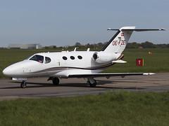 Globe Air   Cessna 510 Citation Mustang   OE-FZE (FlyingAnts) Tags: globe air norwich mustang 510 cessna citation nwi egsh c510 cessna510citationmustang saxonair globeair oefze