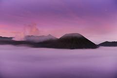 INDONESIA (BoazImages) Tags: travel pink nature weather fog sunrise indonesia landscape asian dawn volcano landscapes java scenery asia foggy scenic volcanoes geology southeast gunung bromo batok ringoffire eastjava boazimages