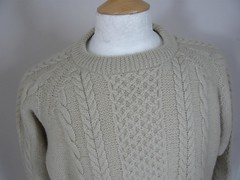 Classic REPLAY aranstyle wool sweater (Mytwist) Tags: irish classic wool fashion stone vintage sweater fisherman knitting y cream ivory knit craft style cable passion jumper 100 knitted aran 023 pullover authentic textured replay laine vouge cabled aransweater mytwist aranjumper aranstyle ajminter