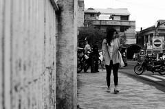 (RM Ampongan) Tags: street city people woman modern walking photography alone philippines single only sur today region bicol pinoy humans phoning camarines iriga tatak