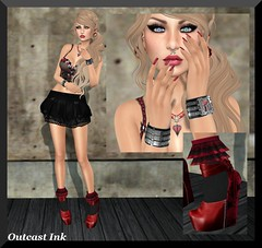 Post #582 (Outcast INK) Tags: mandala maitreya izzies sntch catwa glitteratiposes insufferabledastard wowskins realevilindustries kccouture themensonlymonthly truthhairapparel