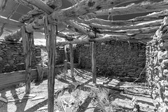Eden Creek Ranch Stable (joeqc) Tags: canon 6d greytones black bw blancoynegro stone adobe eden creek ranch edencreekranch nevada nv nye county oncewashome