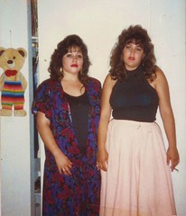 Stella & Nora, June 20, 1988 (STUDIOZ7) Tags: women girls smoking smoker cigarette 1980s eighties 80s california ca cute bear latina
