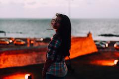 Cartagena (Ronny lvarez) Tags: ocean street sunset sea portrait sunlight selfportrait seascape canonav1 beach beautiful beauty smile silhouette vertical sunrise 35mm canon 50mm reflex eyes colombia exposure solitude cityscape photographer sweet paisaje retro photograph 35mmfilm cartagena sombras camara siluetas recuerdos espiritual pentaxmx sunsetphotography vsco
