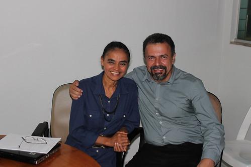 Elias VAz com Marina Silva durante encontro em Brasília em 2012