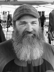 Bearded Celtic Fest Attendee (J Wells S) Tags: ohio portrait blackandwhite bw monochrome beard explore batman waynesville candidportrait harveysburg inexplore celticfestohio