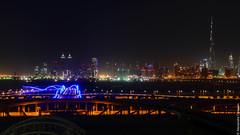 Night view from Meydan (Alexandre Consten) Tags: night skyscraper dubai cityscape khalifa burj