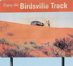 Enjoy the Birdsville Track (Arthur Chapman) Tags: sign australia roadsign outback southaustralia outbackaustralia birdsvilletrack geo:country=australia geocode:method=gps geocode:accuracy=500meters geo:alt=25meters enjoythebirdsvilletrack