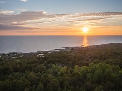 sunset seen from the lantern room (Jumilla) Tags: sunset sea lighthouse nature clouds suomi finland archipelago auringonlasku saaristo majakka isokari olympusomd