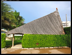 traditional roof style (harrypwt) Tags: green hotel westafrica togo lome harrypwt