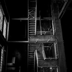 take.the.stairs (jonathancastellino) Tags: leica toronto abandoned window stairs square ruins stair industrial decay ruin down structure m summicron derelict thermal powerstation hearn