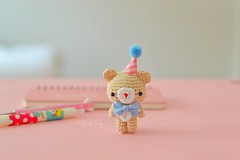 Miniature Amigurumi Bear.