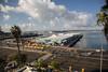 B Street Pier - Port of San Diego (Tony Webster) Tags: ocean california pier unitedstates sandiego parking southerncalifornia crosswalk harbordrive jerseybarrier oceanpier portofsandiego longbuilding bstreetpier cs15rg