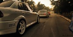 2 Evo's & 1 Opel (Elia Janineh) Tags: race ascona evolution racing mitsubishi awd opel motorsport rimz rwd