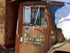 2015.03.07-13.41.40 (Pak T) Tags: abandoned kimballfarm olympus1260mm snow truck westford zuikodigital