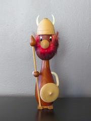 Erik the Red (altfelix11) Tags: wood retro souvenir collectible figurine viking erikthered collectable danishdesign