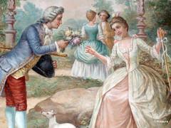 Escena Galante. Fresco Quinta da Regaleira. Picture (rosaura.cristina) Tags: music portugal painting sintra picture palace ballroom quinta música palacio
